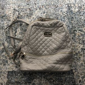 b.e.b.e. Taupe Quilted Faux Leather Backpack